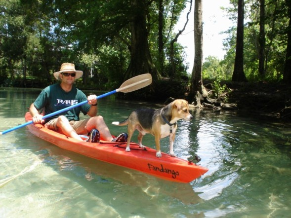 joe and Max in kayak